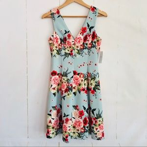 Jessica Simpson Floral Fit & Flare Dress